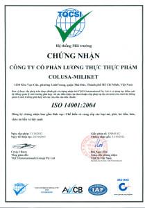 chung nhan iso 14001